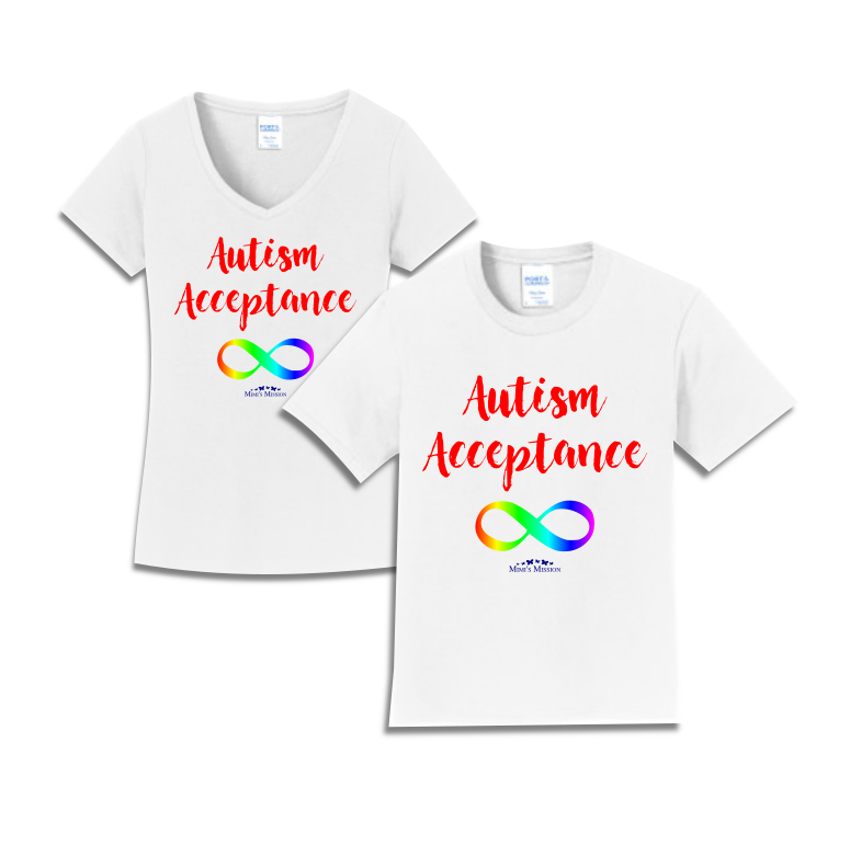 Infinity Autism Acceptance Tees (Red/Rainbow)
